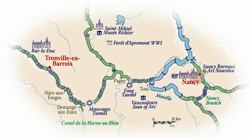 French Hotel Barge PANACHE Barging itinerary for AlsaceLorraine